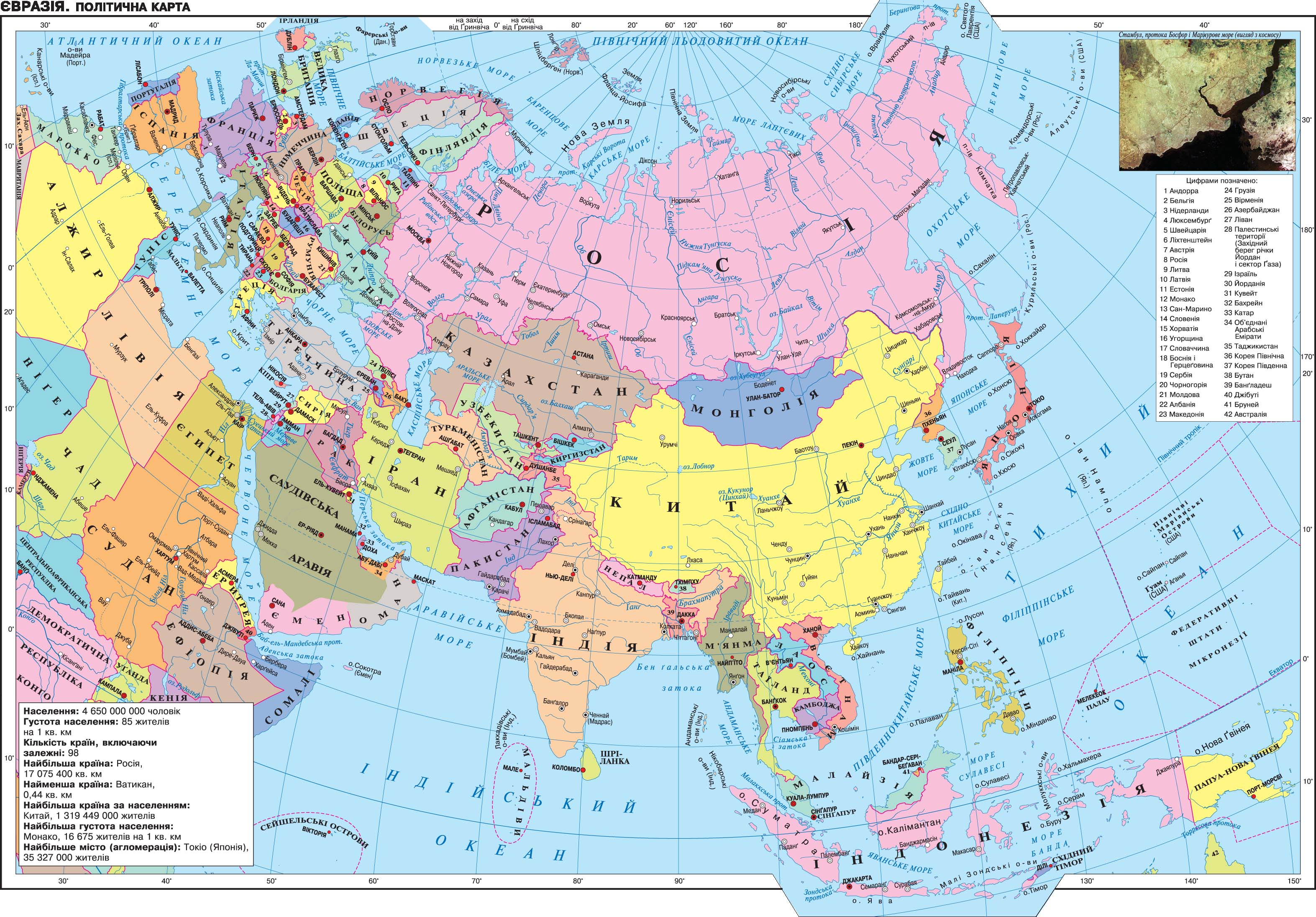 Eurasia. Political Map | The geography of continents and ...